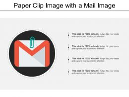 Paper Clip Image With A Mail Image