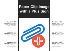 Paper Clip Image With A Plus Sign