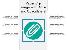 Paper Clip Image With Circle And Quadrilateral