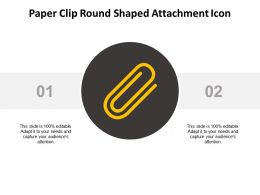 Paper Clip Round Shaped Attachment Icon