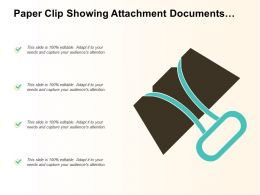 Paper Clip Showing Attachment Documents Files