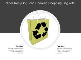 Paper Recycling Icon Showing Shopping Bag With Recycle Icon