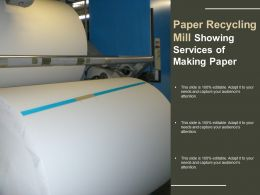 Paper Recycling Mill Showing Services Of Making Paper