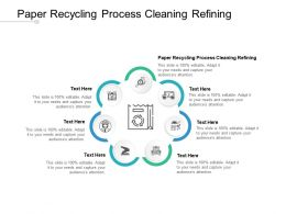 Paper Recycling Process Cleaning Refining Ppt Powerpoint Presentation Outline Cpb