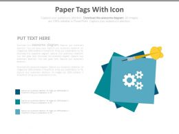 Paper Tags Design For Business Process Fow Powerpoint Slides