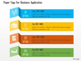 Paper Tags For Business Application Flat Powerpoint Design