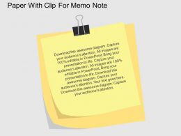 Paper With Clip For Memo Note Flat Powerpoint Design