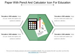 Paper With Pencil And Calculator Icon For Education