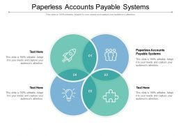 Paperless Accounts Payable Systems Ppt Infographic Template Layout Ideas Cpb