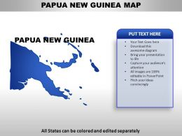 Papua New Guinea Country Powerpoint Maps