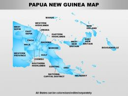 Papua New Guinea Powerpoint Maps