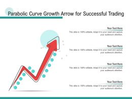 Parabolic Curve Growth Arrow For Successful Trading