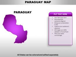 Paraguay Country Powerpoint Maps