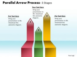 Parallel Arrow Process 3 Stages 16