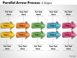 Parallel Arrow Process 5 Stages 15
