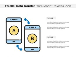 Parallel Data Transfer From Smart Devices Icon
