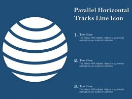 Parallel Horizontal Tracks Line Icon