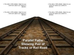 Parallel Paths Showing Pair Of Tracks Or Railroad
