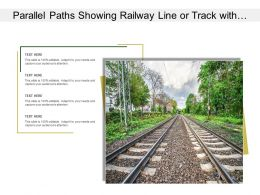Parallel Paths Showing Railway Line Or Track With Scenic View