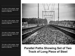 Parallel Paths Showing Set Of Two Track Of Long Piece Of Steel