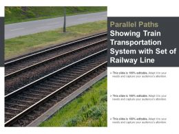 Parallel Paths Showing Train Transportation System With Set Of Railway Line