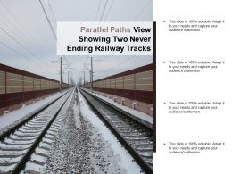 Parallel Paths View Showing Two Never Ending Railway Tracks