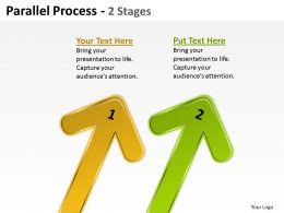 Parallel Process 2 Stages Arrow 4