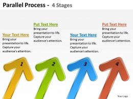 Parallel Process 4 Stages Arrow 26