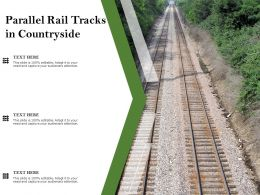 Parallel Rail Tracks In Countryside