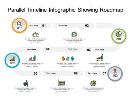 Parallel Timeline Infographic Showing Roadmap