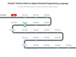 Parallel Timeline Slide For Object Oriented Programming Language Infographic Template