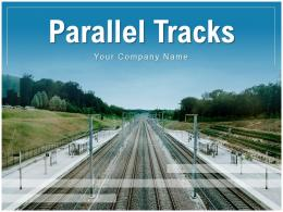 Parallel Tracks Horizontal Countryside Indication Arrows