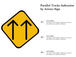Parallel Tracks Indication By Arrows Sign