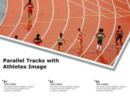 Parallel Tracks With Athletes Image