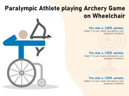 Paralympic Athlete Playing Archery Game On Wheelchair