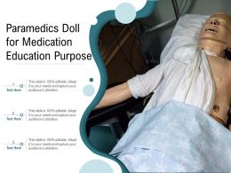 Paramedics Doll For Medication Education Purpose