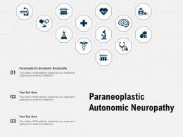 Paraneoplastic Autonomic Neuropathy Ppt Powerpoint Presentation Slides Clipart