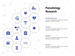 Parasitology Research Ppt Powerpoint Presentation Icon Template