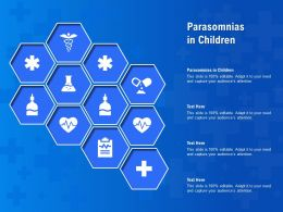Parasomnias In Children Ppt Powerpoint Presentation Model Slides