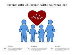 Parents With Children Health Insurance Icon