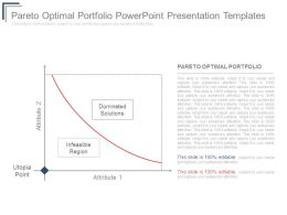 Pareto Optimal Portfolio Powerpoint Presentation Templates