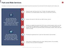 Park And Ride Services Ppt Powerpoint Presentation Professional Infographics