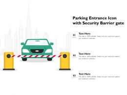 Parking Entrance Icon With Security Barrier Gate