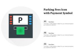 Parking Fees Icon With Payment Symbol