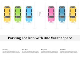 Parking Lot Icon With One Vacant Space