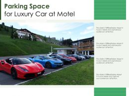 Parking Space For Luxury Car At Motel