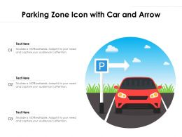 Parking Zone Icon With Car And Arrow
