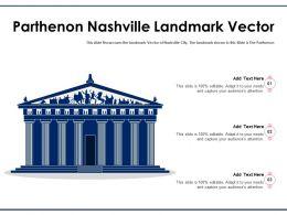 Parthenon Nashville Landmark Vector Powerpoint Template