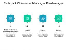 Participant Observation Advantages Disadvantages Ppt Powerpoint Presentation Infographics Cpb