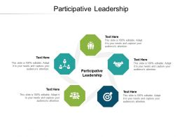 Participative Leadership Ppt Powerpoint Presentation Slides Designs Download Cpb